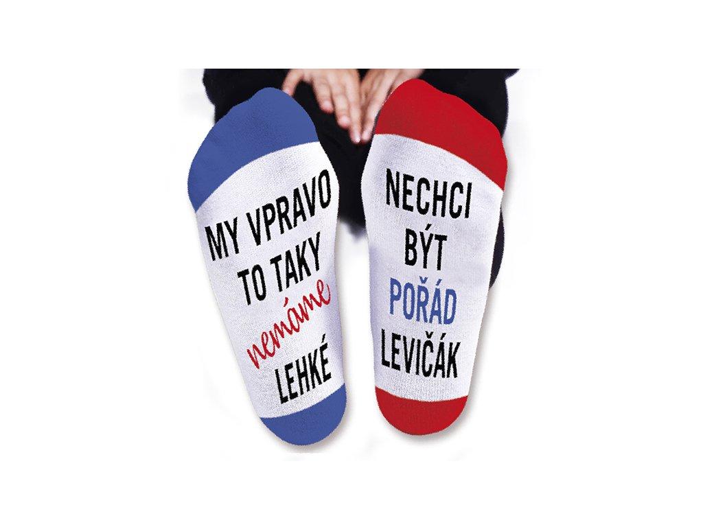 Vtipné ponožky pánské Nechci být pořád levičák
