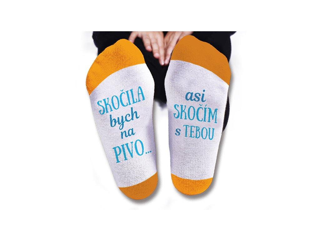 Vtipné ponožky pánské Skočila bych na pivo
