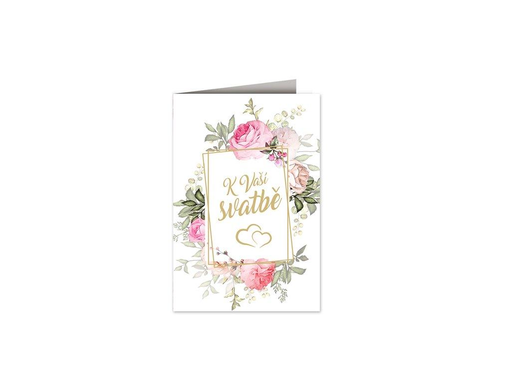 Svatební přání Rámeček s květinami