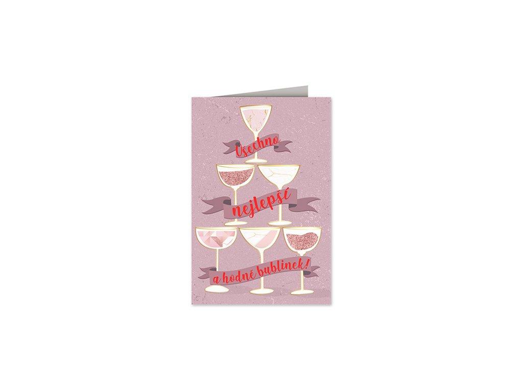 Přání k narozeninám Skleničky šampaňského