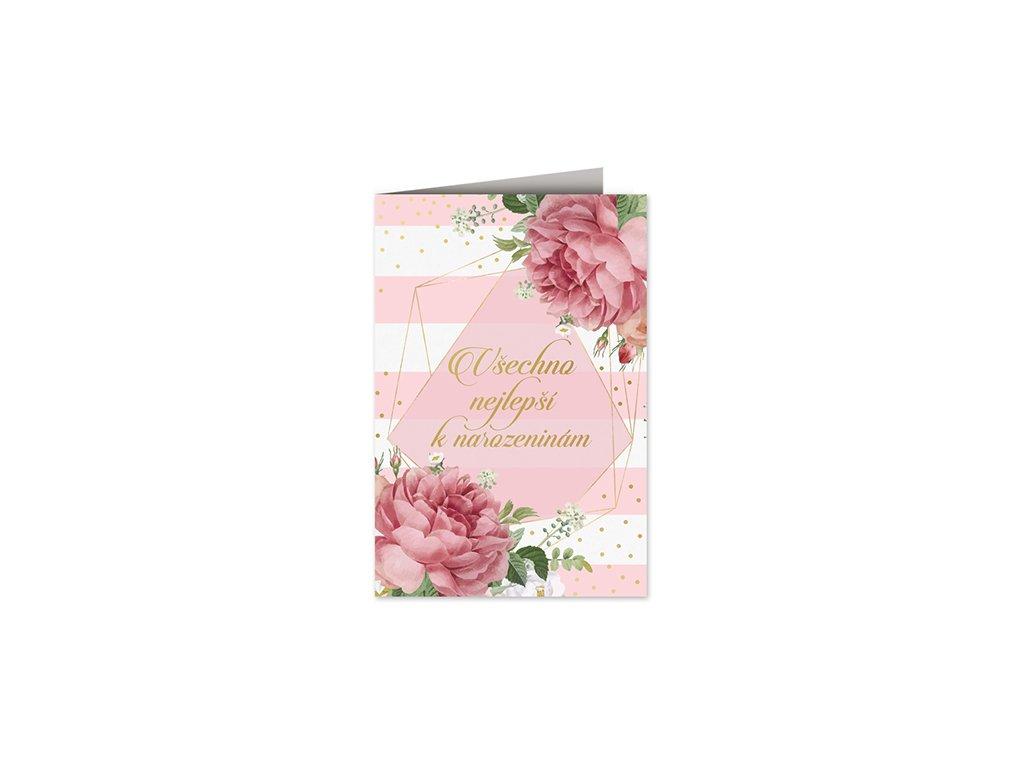 Přání k narozeninám Květy luxus