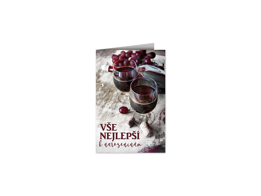 Přání k narozeninám Červené víno