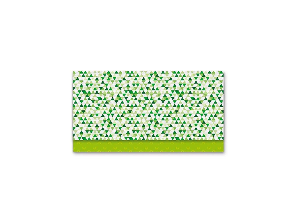 Obálka na peníze Zelená