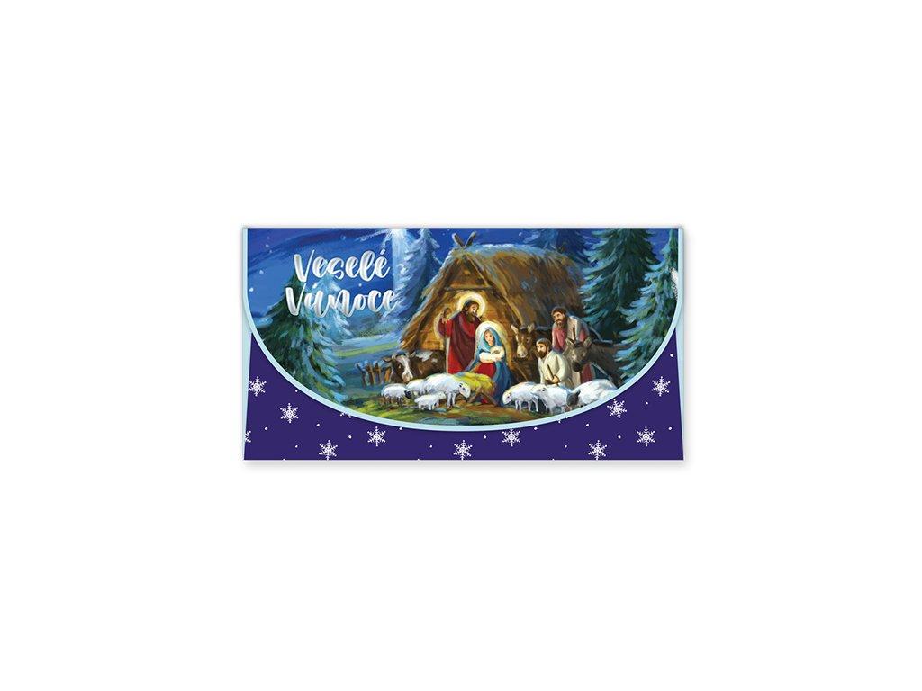 Vánoční obálka na peníze Betlém