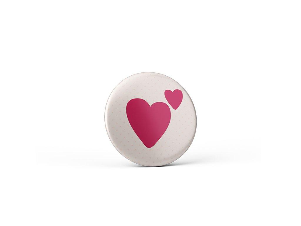 Vtipný magnet s potiskem Srdíčko