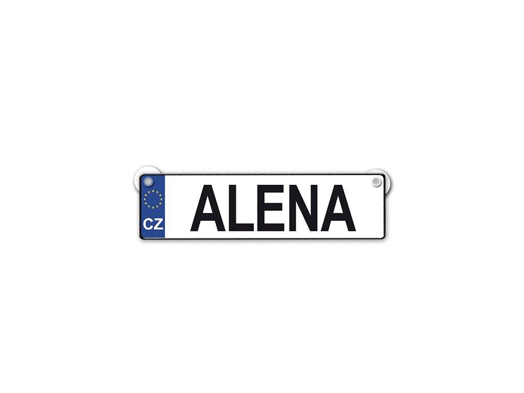 Originální SPZ cedulka se jménem ALENA