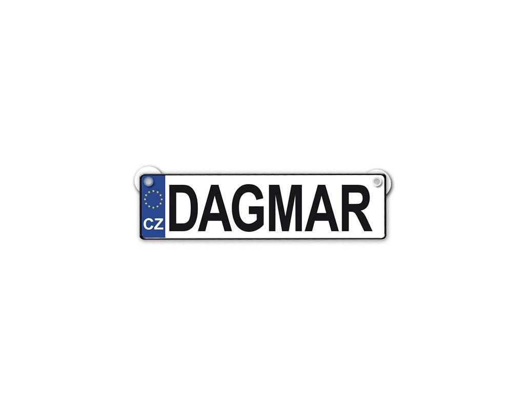 Originální SPZ cedulka se jménem DAGMAR