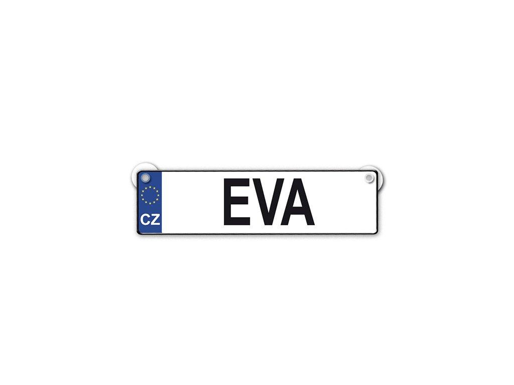 Originální SPZ cedulka se jménem EVA