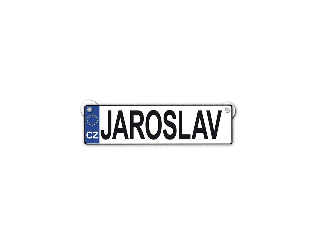Originální SPZ cedulka se jménem JAROSLAV
