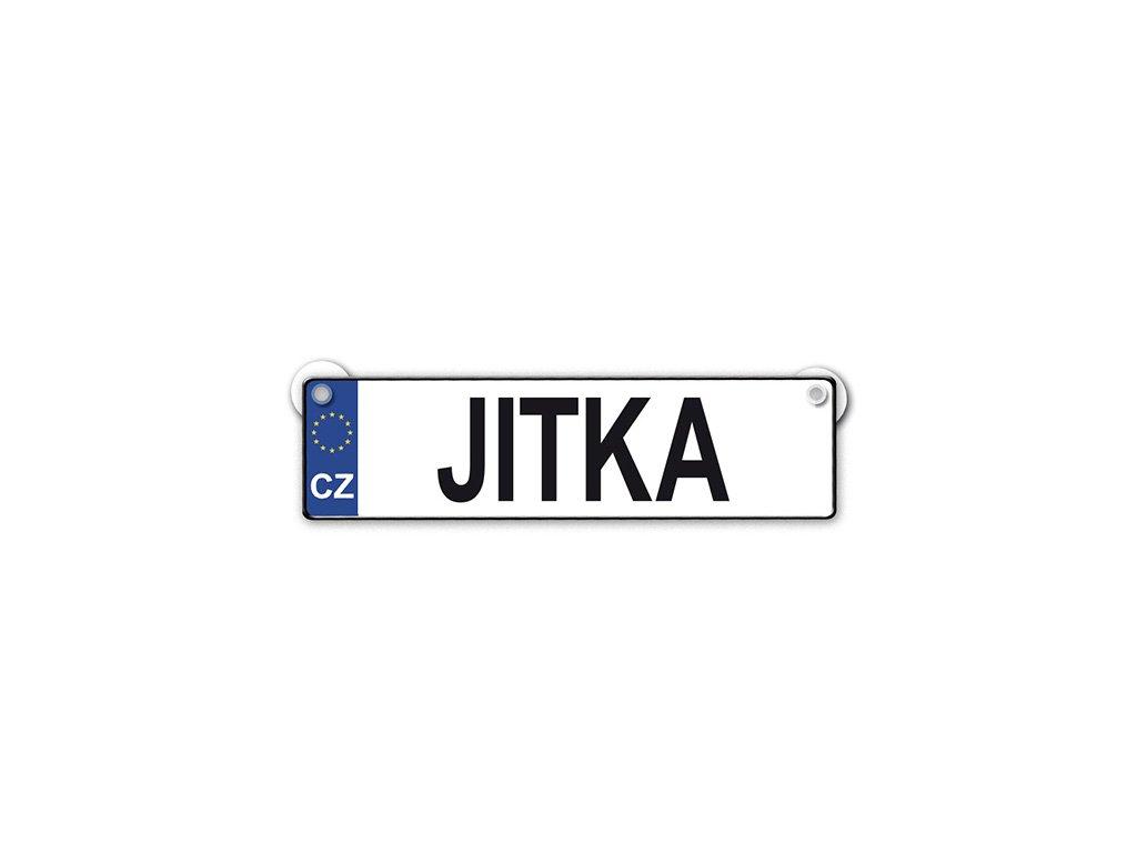 Originální SPZ cedulka se jménem JITKA