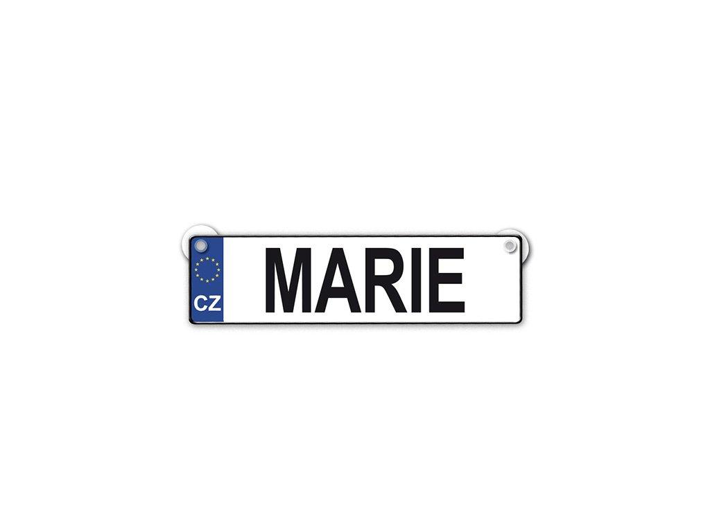 Originální SPZ cedulka se jménem MARIE