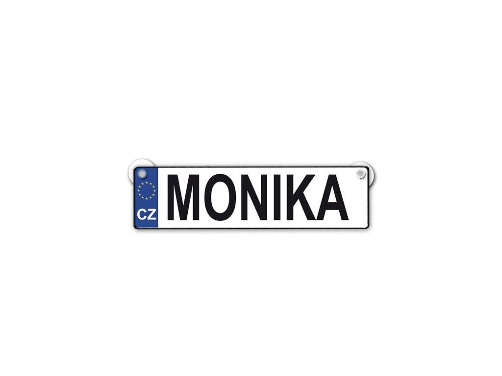Originální SPZ cedulka se jménem MONIKA