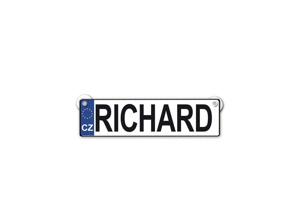 Originální SPZ cedulka se jménem RICHARD