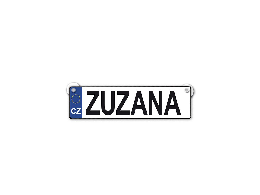 Originální SPZ cedulka se jménem ZUZANA