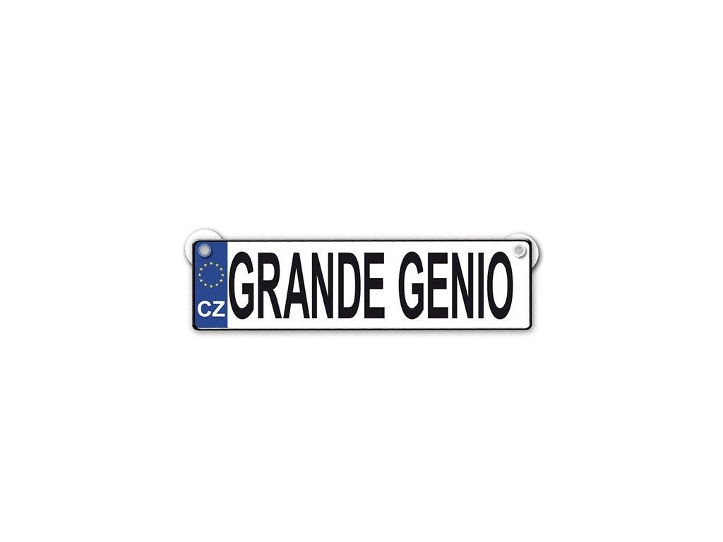 Originální SPZ cedulka Grande genio