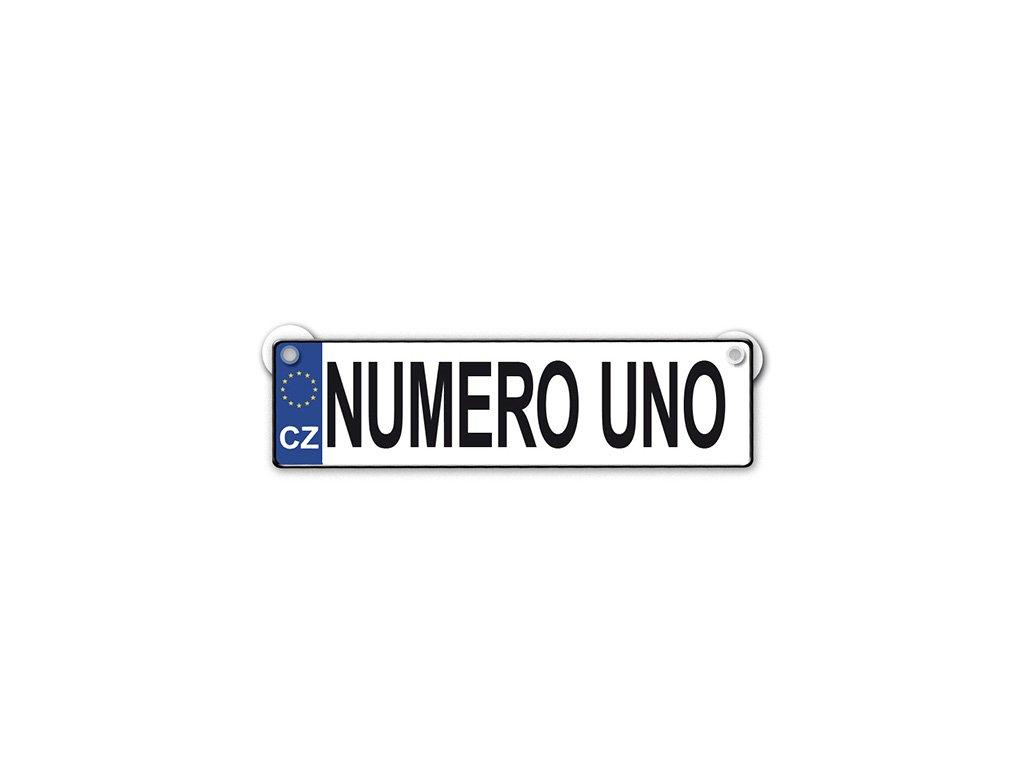 Originální SPZ cedulka Numero uno