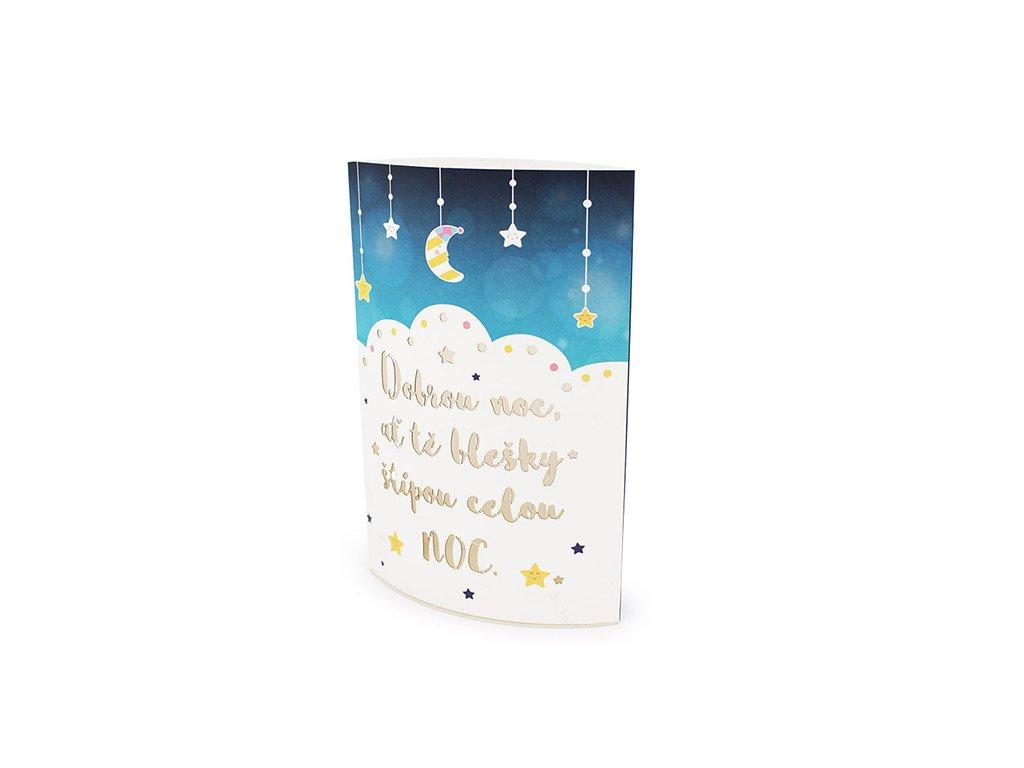 Svítící dětská dekorace lucerna Dobrou noc