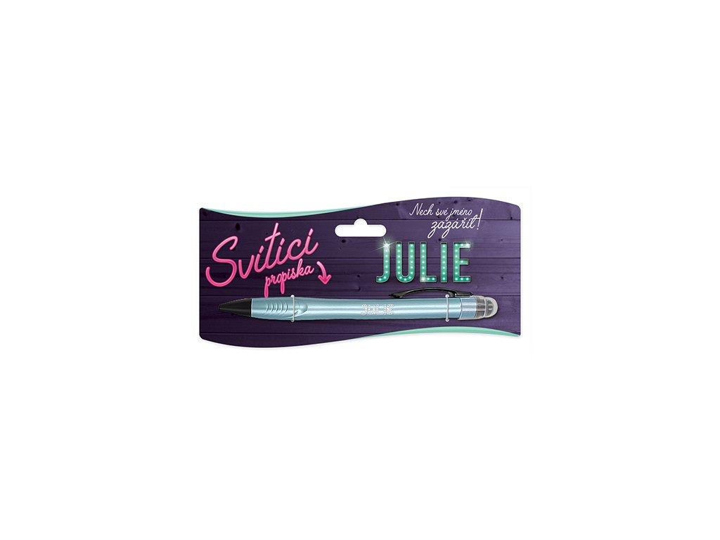 Svítící propiska se jménem JULIE