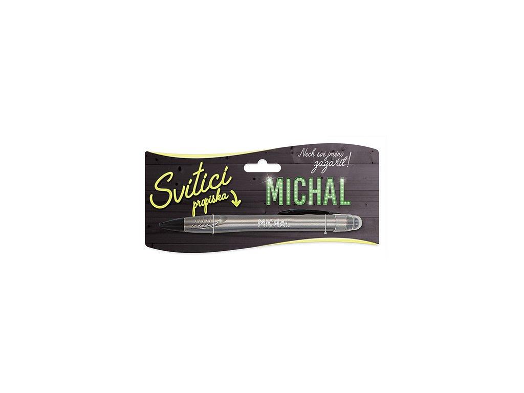 Svítící propiska se jménem MICHAL
