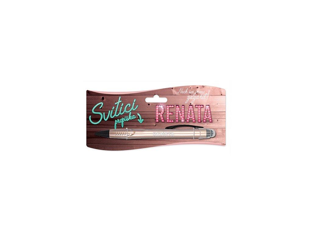 Svítící propiska se jménem RENATA