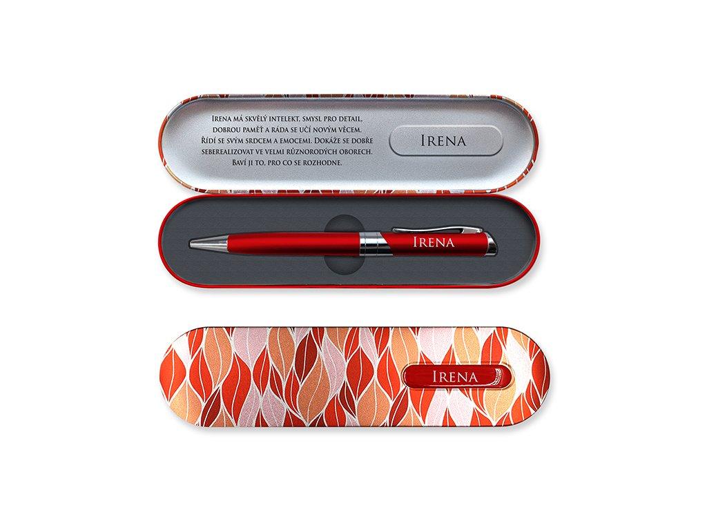 Propiska vdárkové krabičce se jménem IRENA