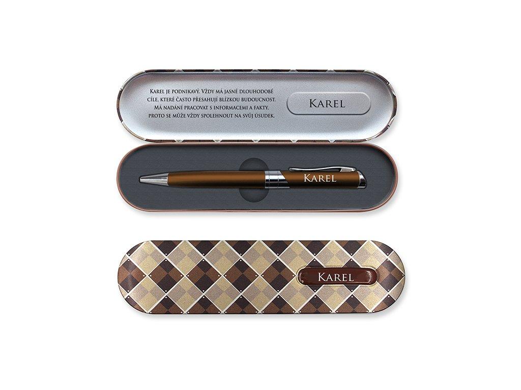 Propiska v dárkové krabičce se jménem KAREL