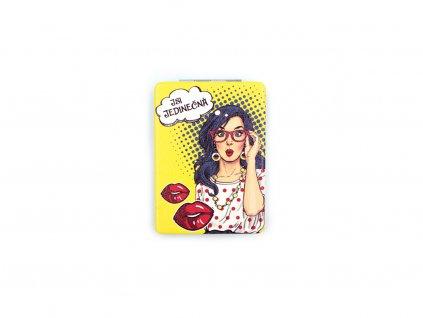 Kapesní zrcátko Pop art Buď jedinečná