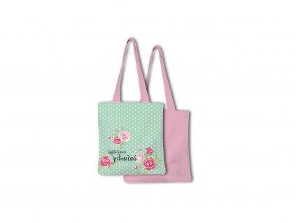 Nákupní taška skládací Květiny Buď jedinečná