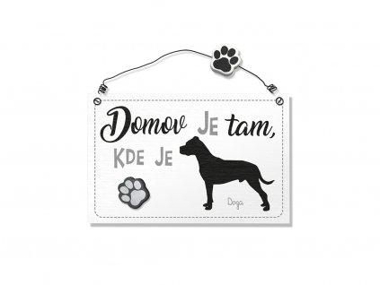 Dekorace cedule se psem Doga
