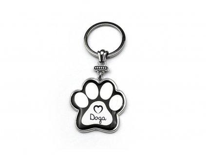 Klíčenka se psem Doga