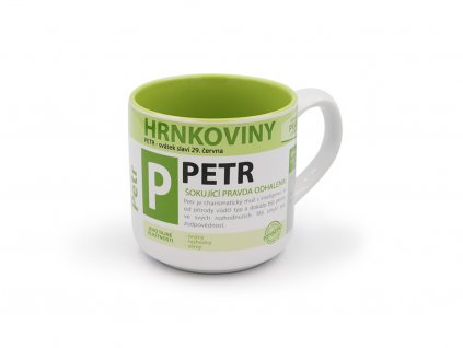 Hrnek se jménem PETR Hrnkoviny
