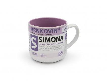 Hrnek se jménem SIMONA Hrnkoviny