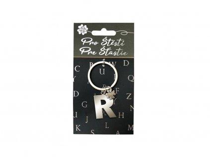 Klíčenka pro štěstí R, stříbrná
