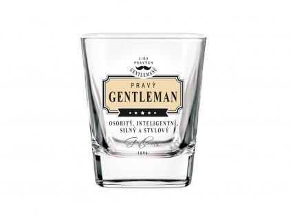 Sklenice na whisky Pravý gentleman