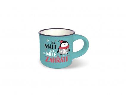 Vánoční mini hrneček na kávu Milé zahřátí