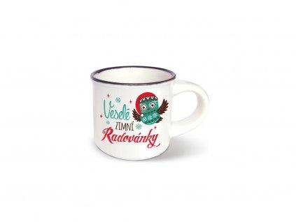 Vánoční mini hrneček na kávu Zimní radovánky