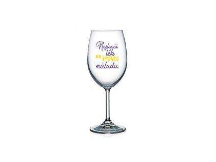 Vtipná sklenice na víno s potiskem Nejlepší lék