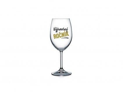Vtipná sklenice na víno s potiskem Výjimečný ročník