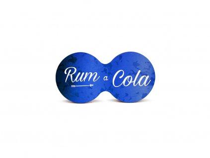 Originální dvojitý podtácek s potiskem Rum a cola