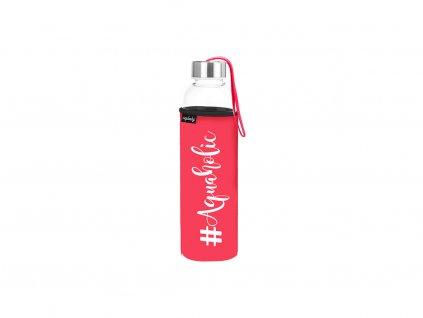 Cestovní lahev na pití #Aquaholic Neplastuj
