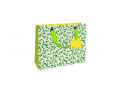 Dárková taška malá Zelný rastr