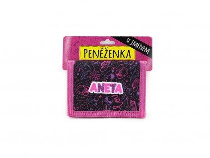 Dětská peněženka se jménem ANETA