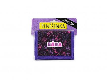 Dětská peněženka se jménem BÁRA