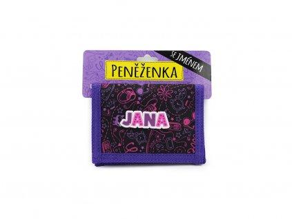 Dětská peněženka se jménem JANA