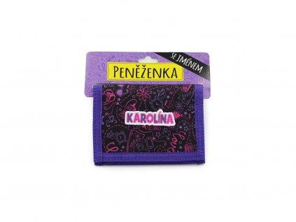 Dětská peněženka se jménem KAROLÍNA
