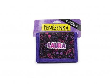 Dětská peněženka se jménem LAURA