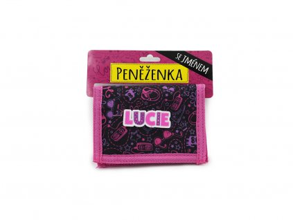 Dětská peněženka se jménem LUCIE