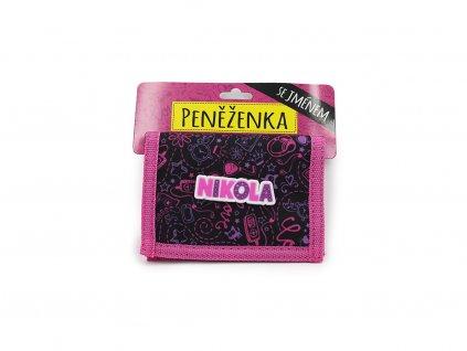 Dětská peněženka se jménem NIKOLA