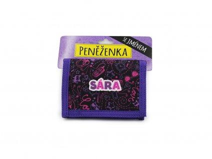 Dětská peněženka se jménem SÁRA