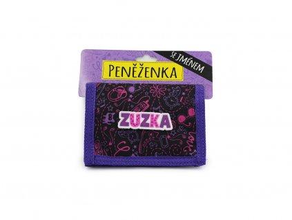Dětská peněženka se jménem ZUZKA
